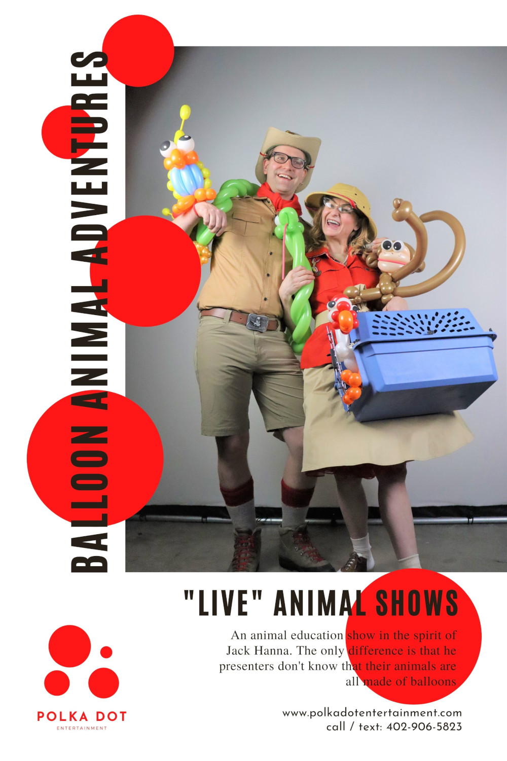 """""""Live"""" Animal Shows from Balloon Animal Adventures. It's like crocodile hunter, with balloons."""