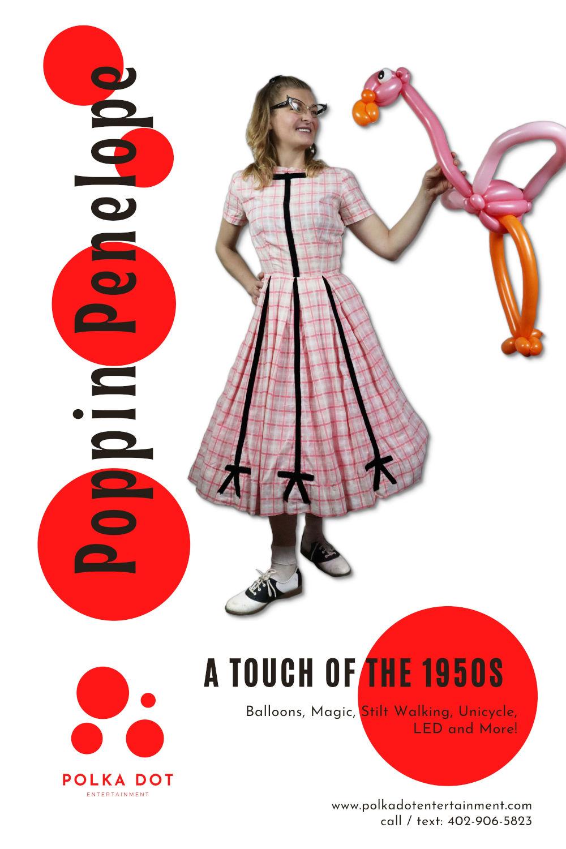 Poppin Penelope, Magician, Balloon Artist, Stilt Walker, and more